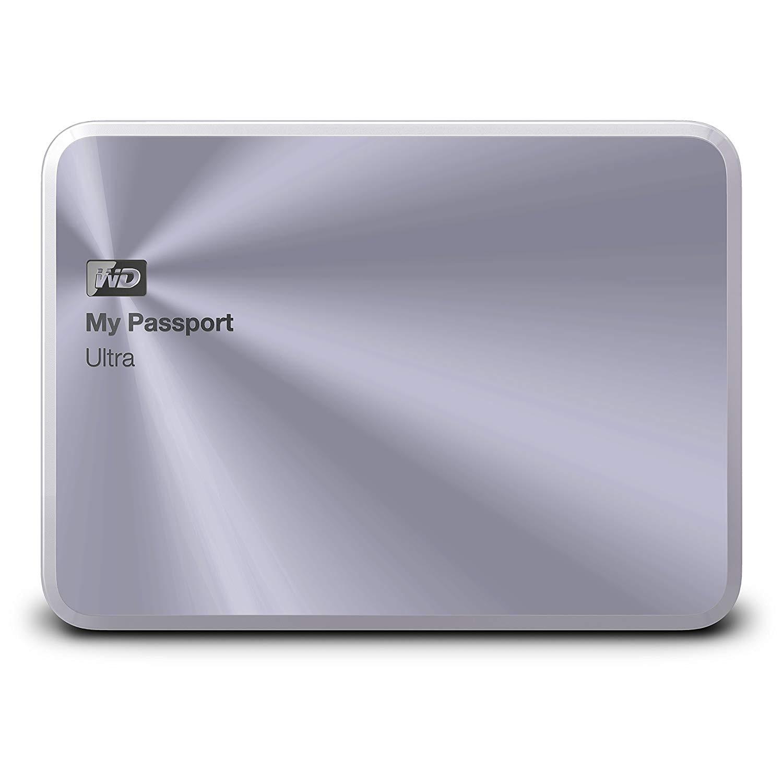 WD 3TB Silver My Passport Ultra Metal Edition Portable External Hard Drive   USB 3.0   WDBEZW0030BSL