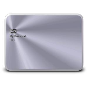 Image 2 - WD 3TB Gümüş My Passport Ultra Metal Baskı Taşınabilir harici sabit disk USB 3.0 WDBEZW0030BSL