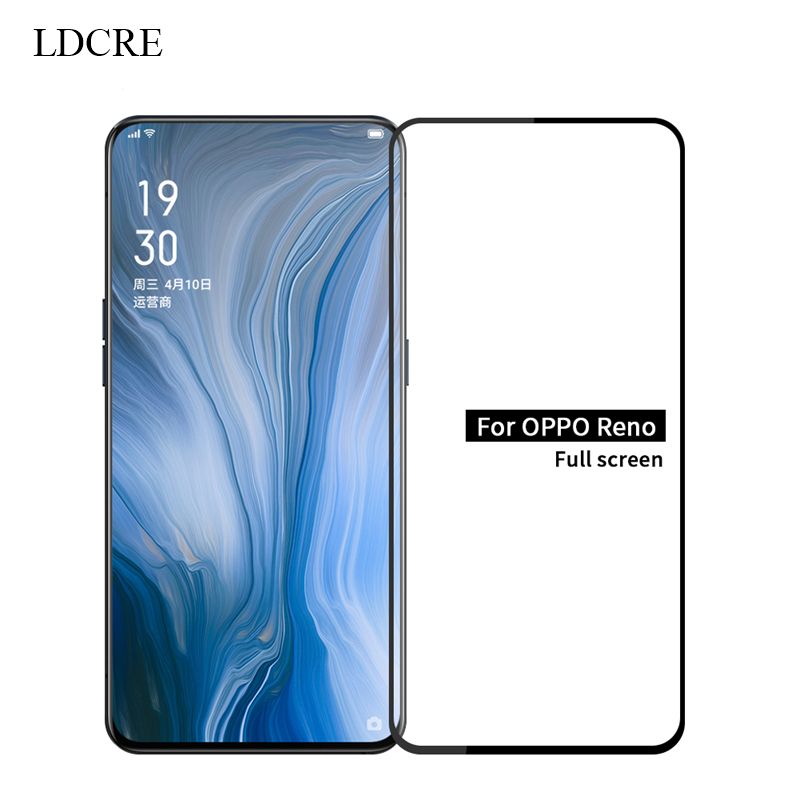 2PCS for OPPO Reno 10x Glass Full Glue Cover Tempered Glass Screen Protector for OPPO Reno 10x Glass for OPPO Reno 10x Zoom Film in Phone Screen Protectors from Cellphones Telecommunications