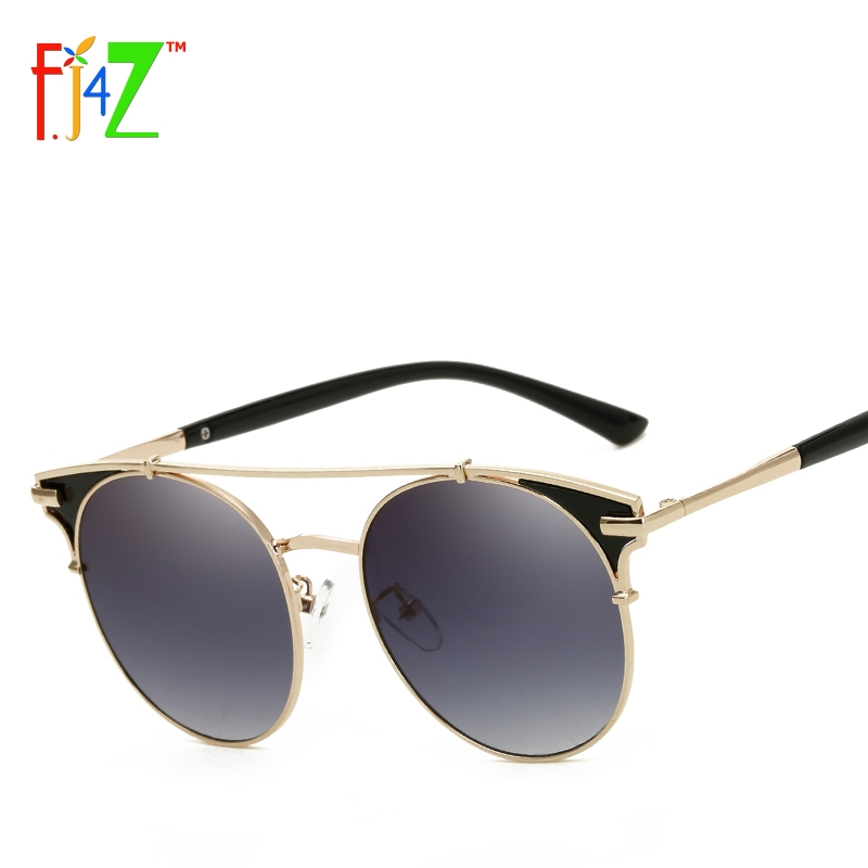 08992ab9e6 F.J4Z Luxury Sunglasses Fashion Double Alloy Bridges Round Men s Sun Glasses  Women s Goggle Shades UV 400-in Sunglasses from Women s Clothing    Accessories ...