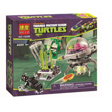 BELA 10206 Teenage Mutant Ninja Turtles Building blocks Escape the lab Scene Minifigure Toys Bricks