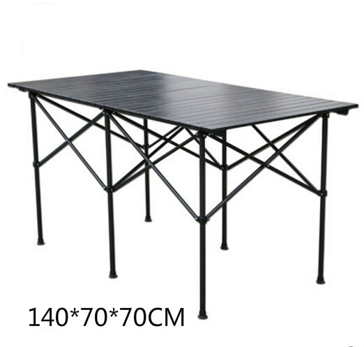 High quality outdoor folding table portable camping picnic table without chairs 140*70*70CM the new portable outdoor folding table chairs aluminum suitcase suit