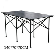 Outdoor folding table car camping portable outdoor picnic table table outdoor folding chairs stall table 140*70*70CM 70 70 69cm aluminum alloy folding table portable outdoor barbecue table camping table picnic desk