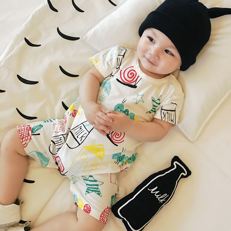 Baby Girls Rompers Cotton  Short Sleeve Newborn Boys Clothing Summer Round Neck Infant Soft  Casual kids Clothes Baby Boy Romper cotton baby rompers set newborn clothes baby clothing boys girls cartoon jumpsuits long sleeve overalls coveralls autumn winter
