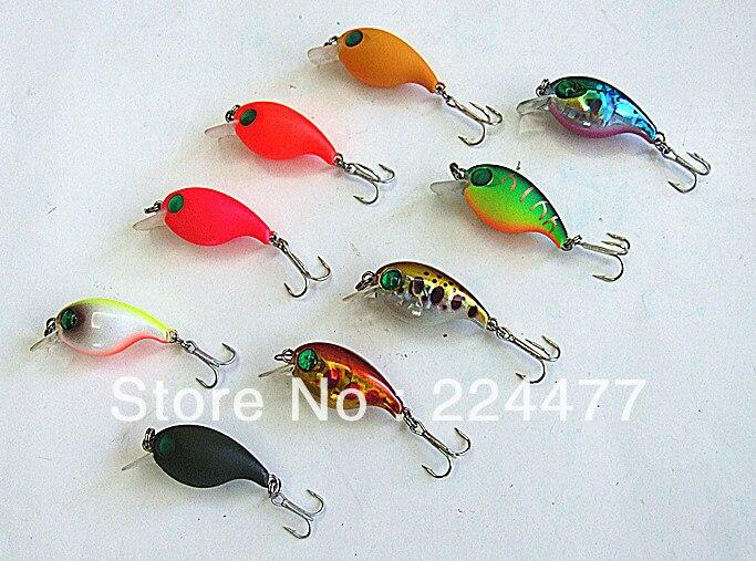 2,8 cm 2g Mini Crank Bait Rybářské návnady Hard Bait Rybářské potřeby China Hook Plovoucí více barev Box Box balení
