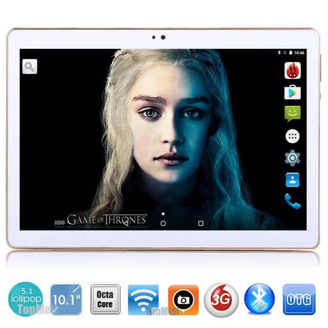 New 10 inch Octa Core 3G Tablet 4GB RAM 32GB ROM 1280*800 Dual Cameras Android 5.1 Tablet 10.1 inch