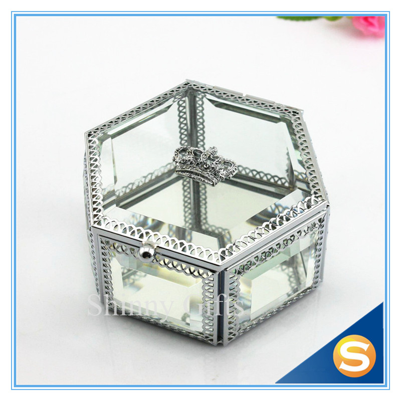 Wedding Gift Box Glass Jewelry Box Crystal Gift Box Jewelry Box with