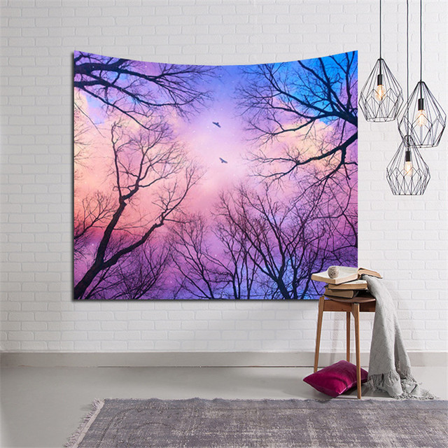 Large Wall Tapestry with Forest Print