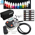 OPHIR PRO 0.3mm Airbrush Kit with Air Compressor for Nail Art Paint Stencils & Nail Inks & Bag Air Brush Gun Nail Tools_OP-NA001