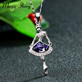 Magic Ikery Crystal long necklaces Bohemian sweater chain Ballet Girl necklaces pendants Fashion Jewelry for women MK00044