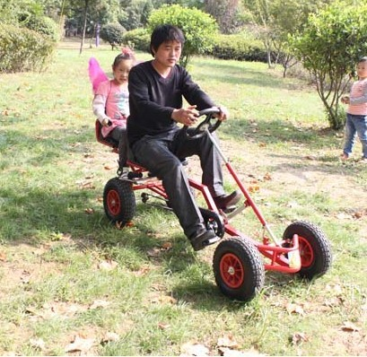 Two seater adult kart double kart bike bicycle car balance twin children