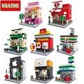 Arquitectura Nanoblockse HSANHE Mini Bloques de Construcción de Ladrillos Niños Educativos Compatible Legoe juguetes regalos de navidad para niños