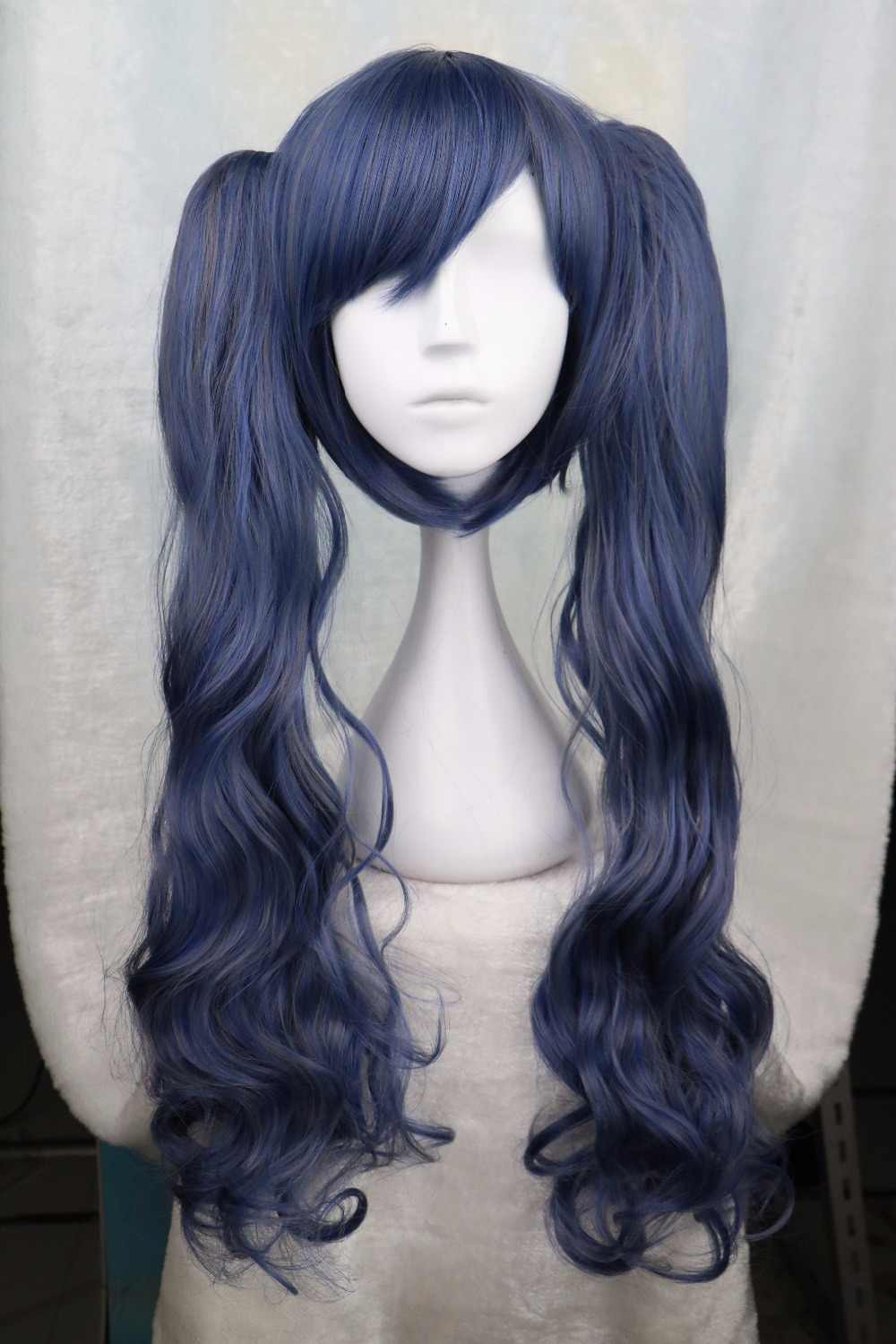 Biamoxer Black Butler Kuroshitsuji Ciel Phantomhive Cross-dressing Girl Drak Blue Cosplay Wig
