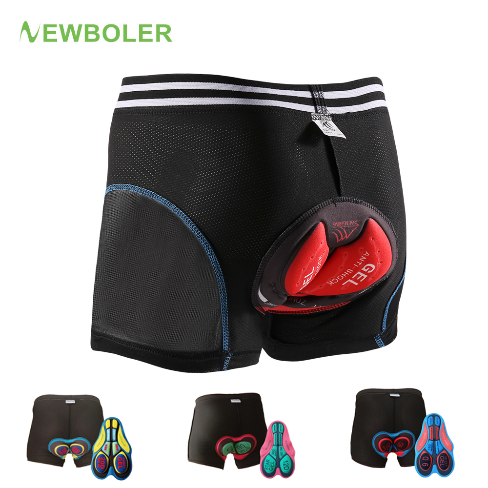 NEWBOLER 2019 Upgrade Cycling Shorts Men Cycling Underwear 5D 20D Gel Pad Shockproof Underpant Bicycle Shorts MTB Bike Underwear