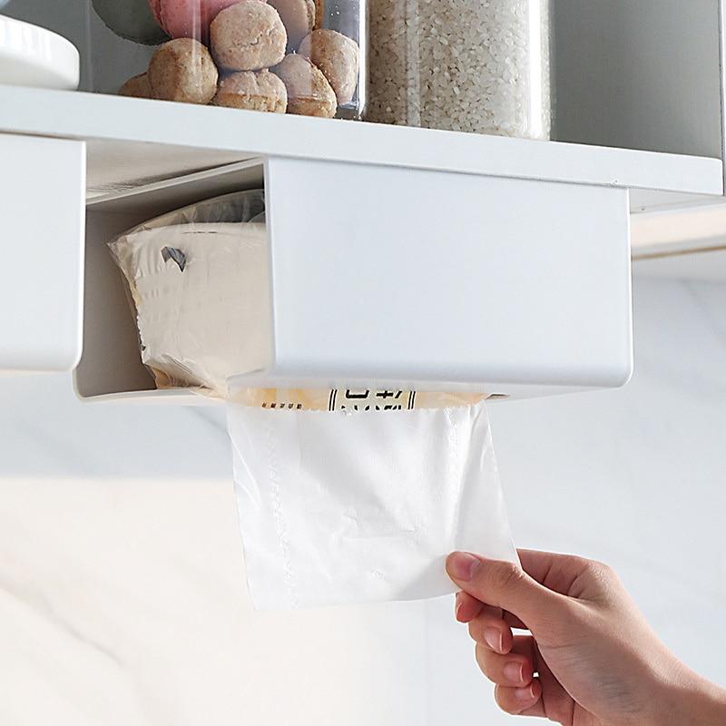 1 шт. кухонная бумажная коробка для хранения бумажная коробка паста настенный держатель для бумажных полотенец коробка для туалетной бумаги цвет белый/серый/розовый