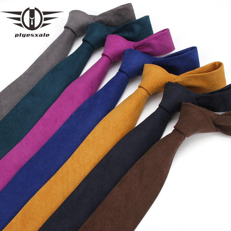 Plyesxale 6 cm de Veludo Pescoço Laços Para Homens Skinny Gravata Formal Do Casamento Negócios Inglaterra Cinza Marrom Amarelo de Presente Do Laço Dos Homens gravata M3