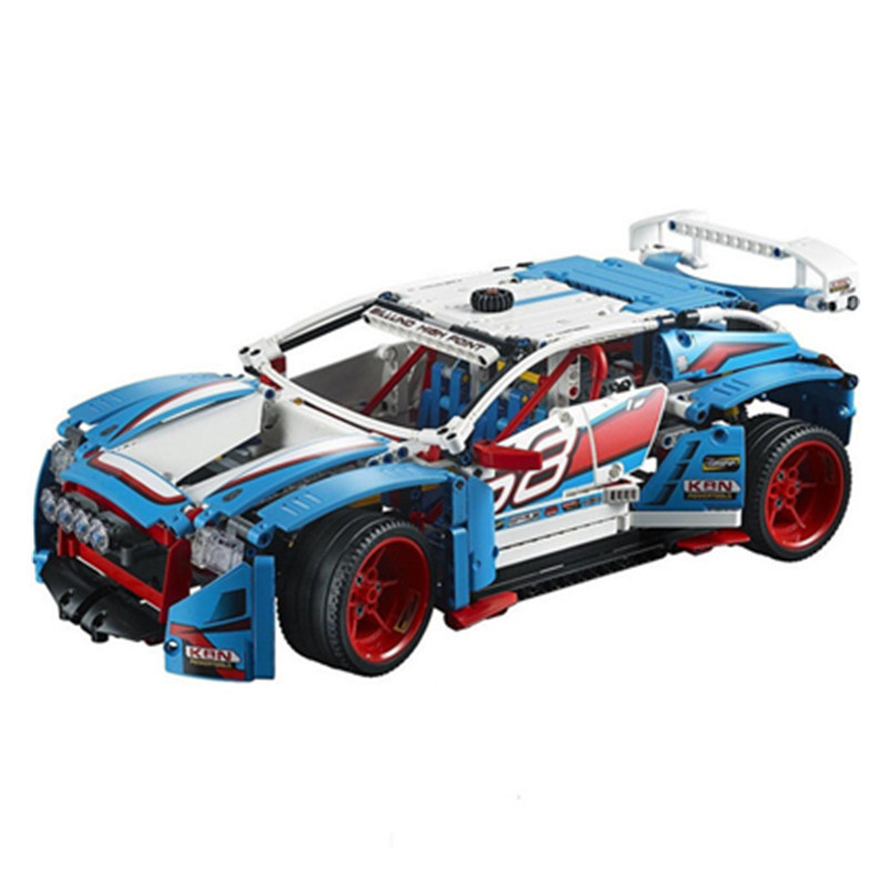1085pcs Diy Genuine Technic Series Blocks The Rally Car Set Compatible With Legoingly 42077 Bricks Toys For Children lepin 20077 genuine technic series the rally car set 42077 building blocks bricks educational funny toys as children gifts