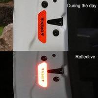 notice car 4Pcs/Set Car OPEN Reflective Tape Warning Mark Reflective Open Notice Bicycle Accessories Exterior Car Door Stickers DIY (3)