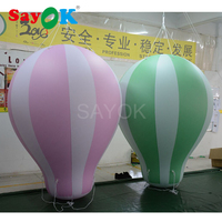 2mH ПВХ гелий горячий воздушный шар надувной висящие шары для вечерние/события/шоу/реклама/выставка