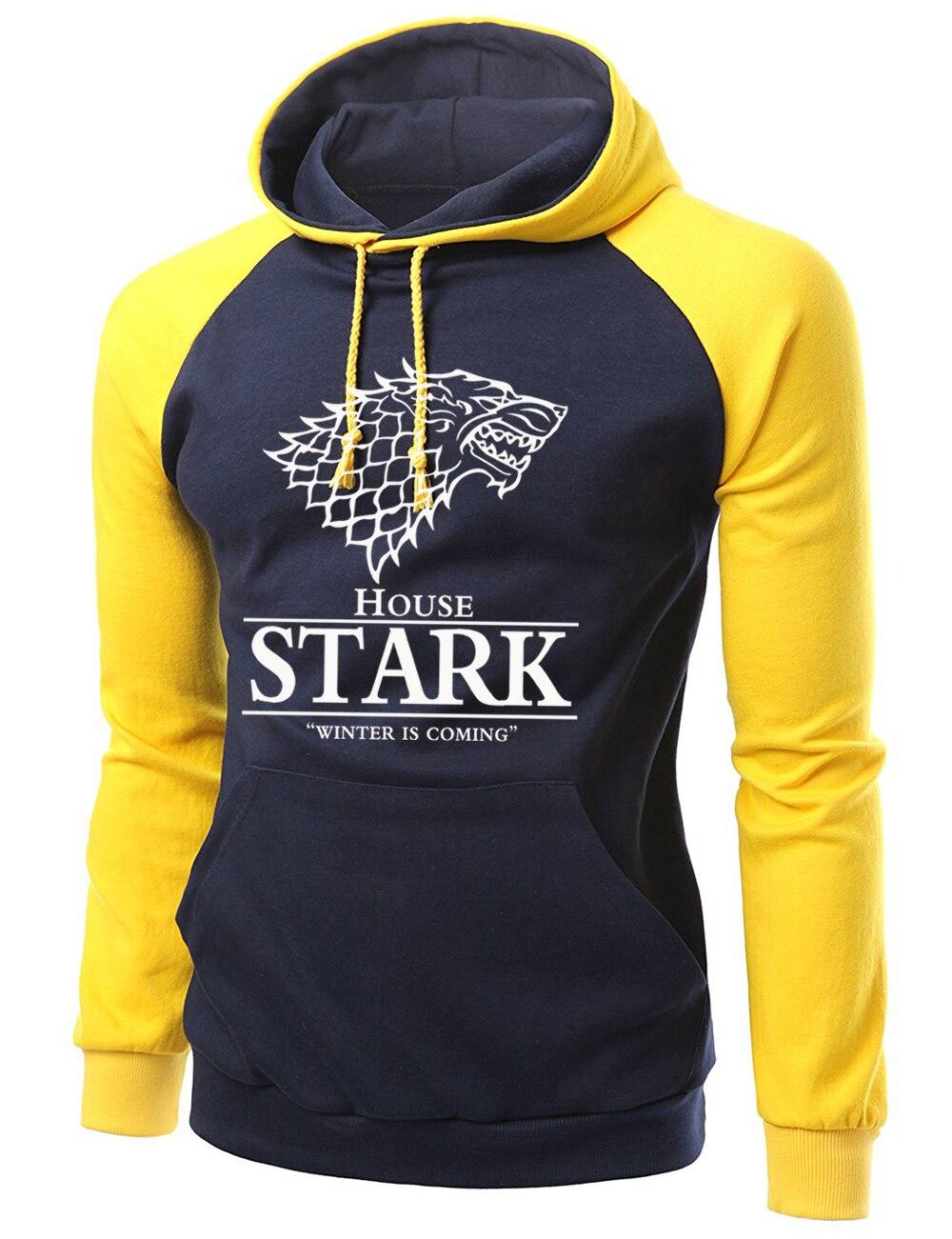 2019 Frühling Herbst Fleece Männer Sweatshirts Game Of Thrones Haus Stark Raglan Hoodies Männer Hip Hop Streetwear Marke Kleidung