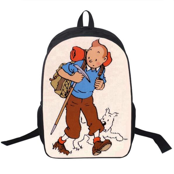 Cartoon Tintin Adventure / Popeye The Sailor Backpack For Teenagers Girls Boys School Ba ...