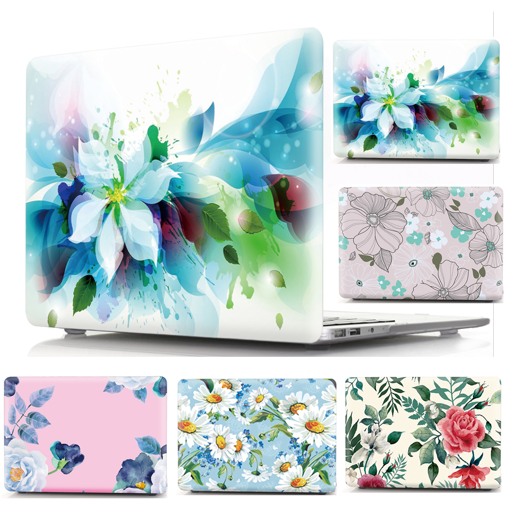 Cover Case For Apple MacBook Air Pro Retina 11 12 13 15 Protective Shell For Mac New Pro 13 3 15 4 Touch Bar Print Hard Cover in Laptop Bags Cases from Computer Office