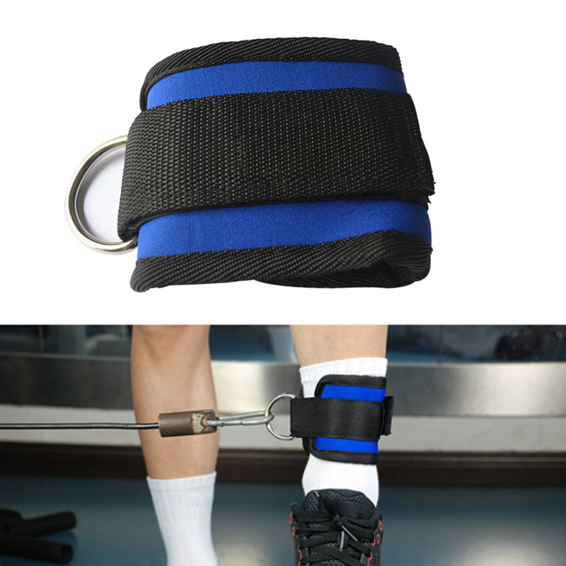 BS Ankle Twin D-Ring Strap Multi Gym Cable Attachment Leg Thigh Pulley Lifting