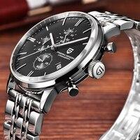 Мужские часы лучший бренд luxury brand PAGANI Дизайн Водонепроницаемый гаджет 30 м натуральная кожа часы Спорт Военная Кварцевые часы Мужчины relojes