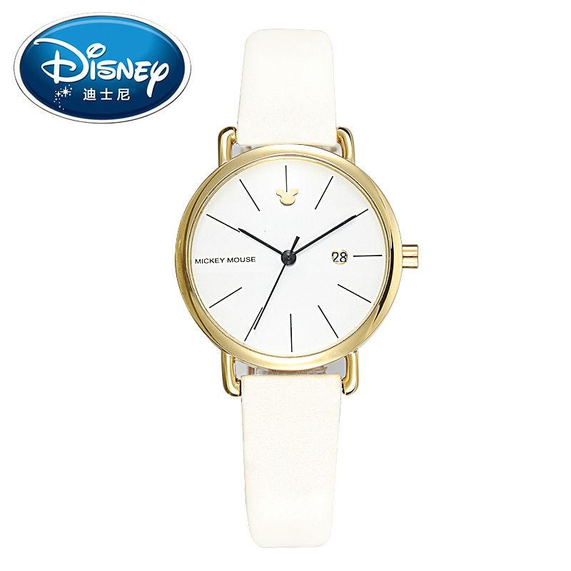 2017 Disney Kids Watch Children Watch Fashion Simple Wristwatches Girls Mickey Mouse Gift Leather clock