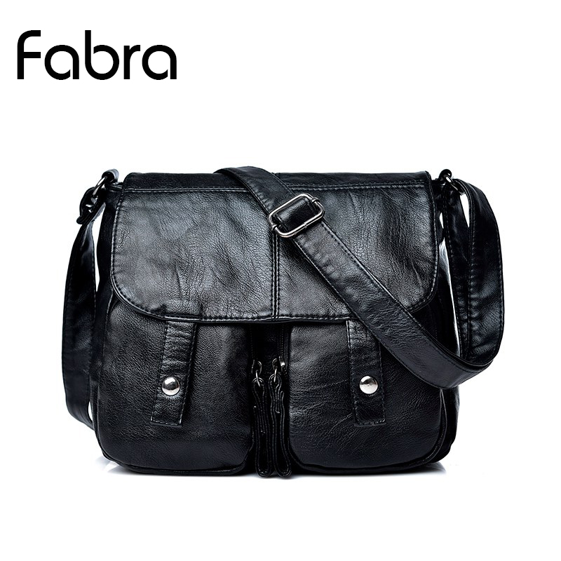 Fabra Fashion Women Crossbody Bag Soft PU Leather Shoulder Bags Female Portable Women Messenger Bag Tote Ladies Handbag Bolsas kvky brand fashion soft leather shoulder bags female crossbody bag portable women messenger bag tote ladies handbag bolsas