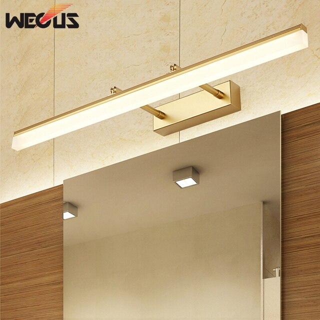 US $12.01 49% OFF|Neue goldene/chrome led spiegel front lampe einstellbare  kopf bad wand leuchte malerei beleuchtung schlafzimmer toilette make up ...