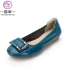 New Arrive Autumn Women Shoes Genuine Leather Flat Shoes Woman Round Toe Soft Casual Loafers Plus Size Fashion Women Flats