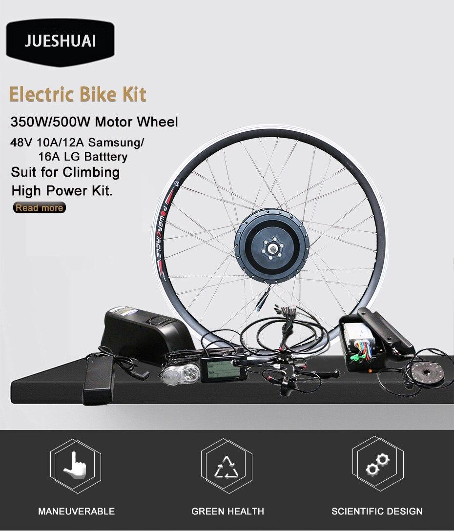 "HTB1qb2xbxnaK1RjSZFtq6zC2VXaS - 48V Lithium Battery Electric Bike Kit 350w 500w Hub Motor Wheel for 26"" 700C  MTB Bike Road Bicycles E Bike Conversion Kit"