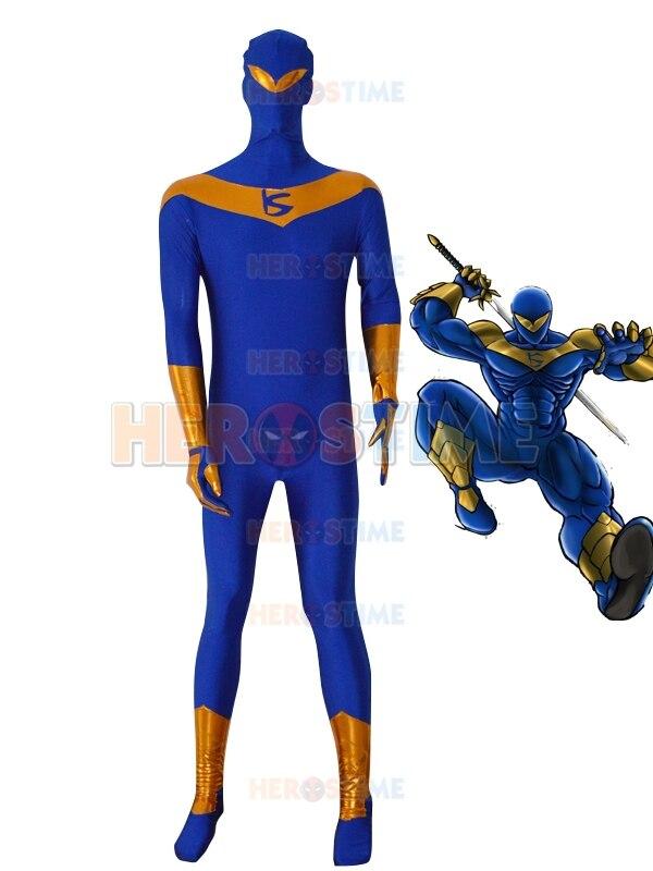 Doprava zdarma Lycra Spandex Knight Seeker kostým fullbody Superhero zentai oblek halloween Cosplay kostým