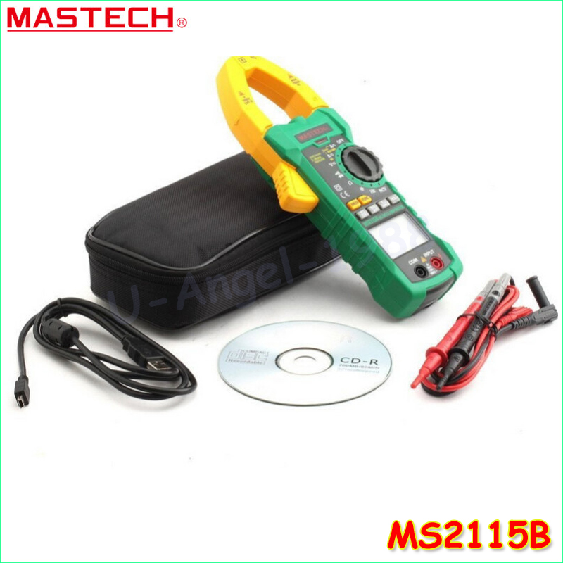Здесь продается  1pcs MASTECH MS2115B True RMS Digital Clamp Meter Multimeter DC AC Voltage Current Ohm Capacitance Frequency Tester with USB  Инструменты