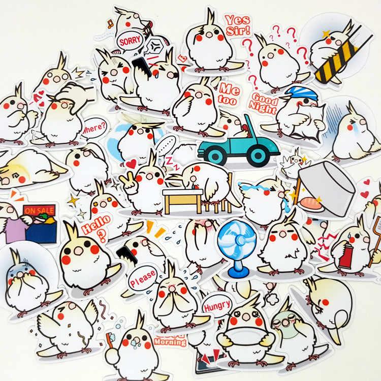 40 قطعة/الحقيبة الطيور الحب للتحدث الحيوان ألبوم القصاصات للماء الديكور ملصقات DIY اليدوية هدية سكرابوكينغ ملصقا