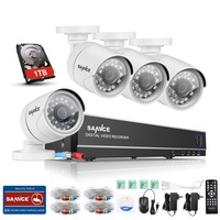 SANNCE HD 1080P HDMI 8ch CCTV System 8 Channel DVR KIT 720P Video Recorder 1500TVL Security