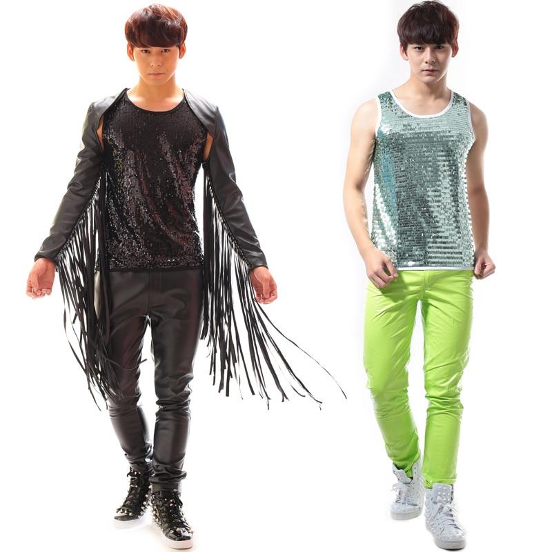 27-44!!! 2018, pour les vêtements de mode pour hommes candy neon série de pantalons décontractés costumes costume les vêtements du chanteur - 3