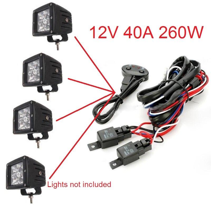 Awesome 12 V 2X 40A Relay Harness Mobil Kepala Cahaya Lampu Beralih Offroad Wiring Digital Resources Instshebarightsorg