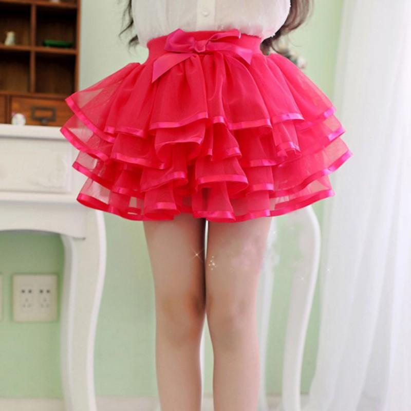 Sweet Lovely Baby Girls Tulle Party Ballet Dance Skirt Multilayer Cake Tutu Princess Skirt 1-8Y