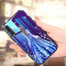 2019 Glass Case for Huawei P20/P20 Lite/P20 pro  Phone For Nova3E Plating Blue Light Tempered Cases Back Cover Shell
