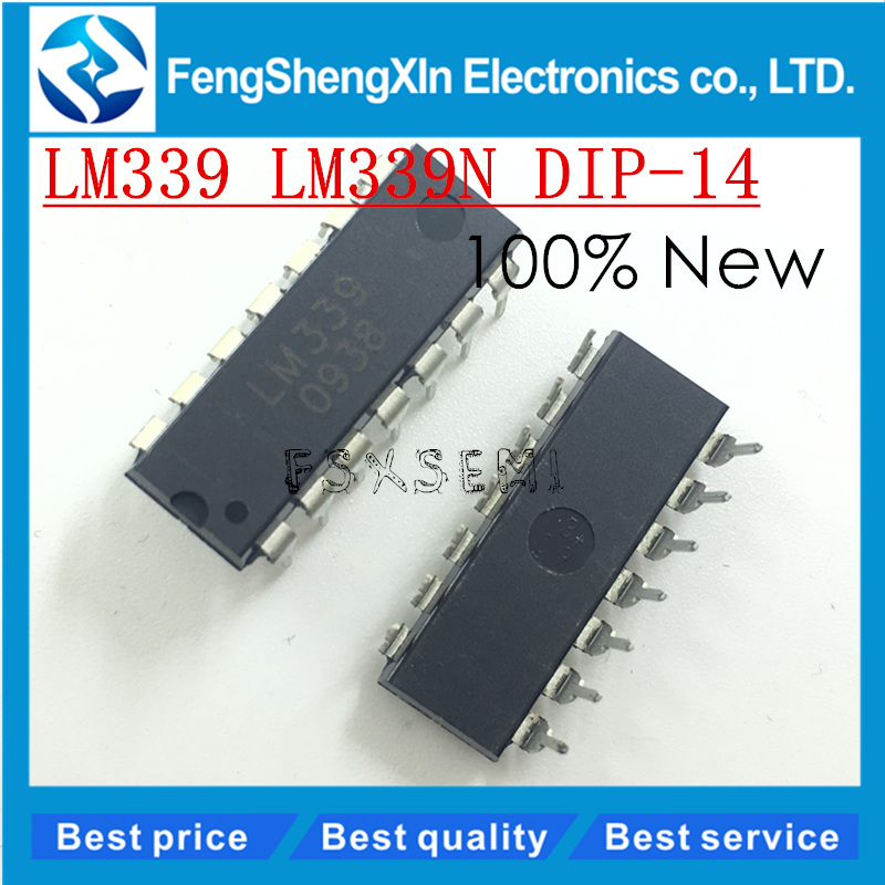 100pcs/lot New LM339 LM339N DIP-14 Low-Power Low-Offset Volt