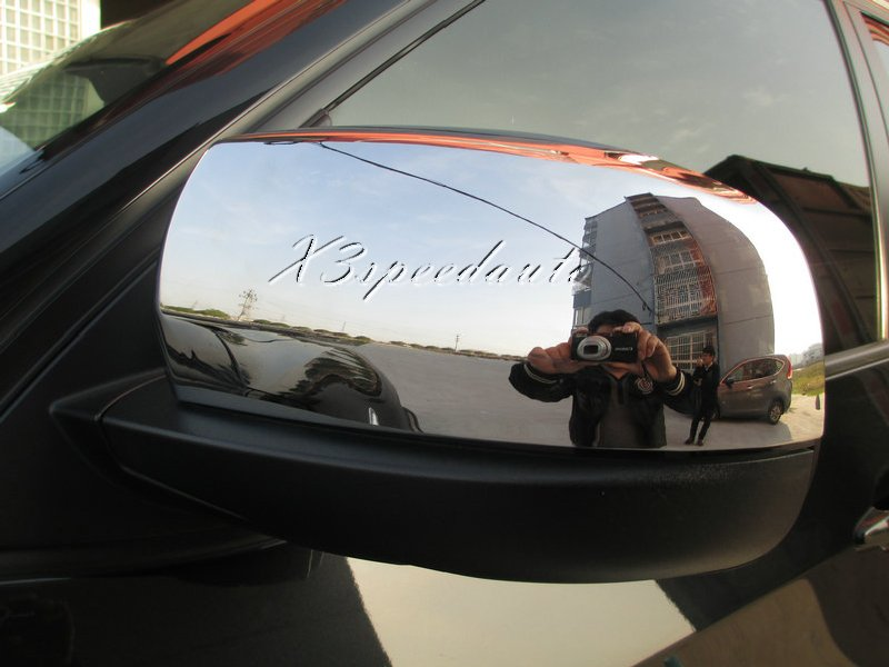 Couvercle de miroir de porte latérale en plastique ABS chromé 2 pièces pour BMW X5 2008-2013