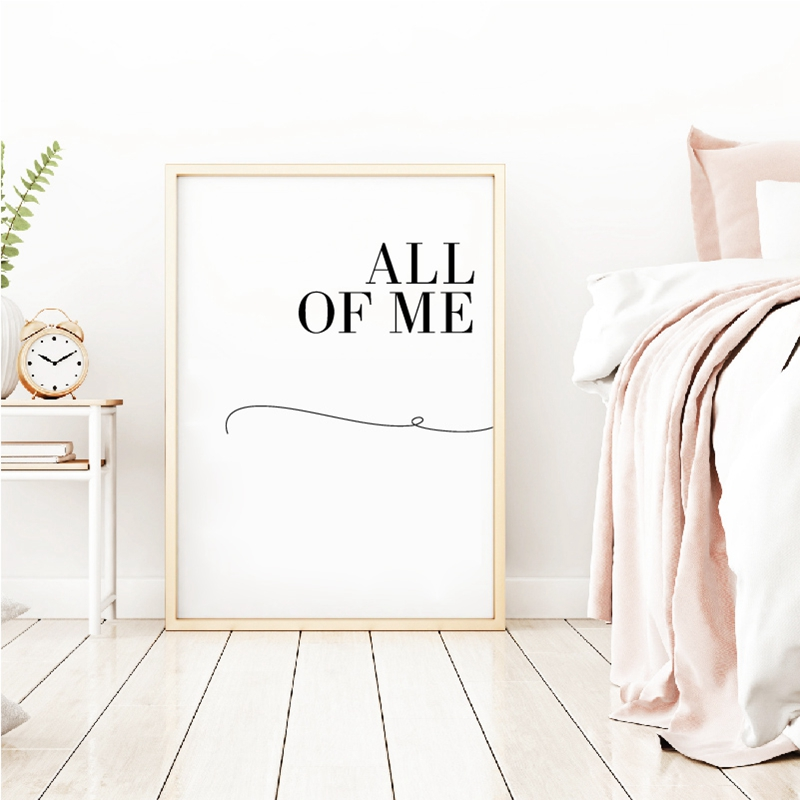 All of me loves all of you couple poster prints