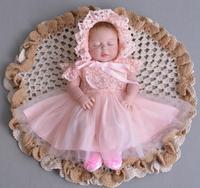 57cm Full Body SIlicone Reborn Babies Doll Bedtime Toy Lifelike Newborn Princess Baby Doll Bonecas Bebe Reborn for girls gifts