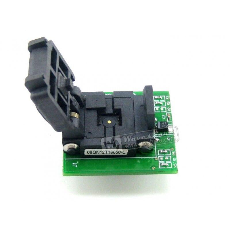 Wavesahre QFN8 à DIP8 (A) Plastronics IC adaptateur de programmation prise de Test 5.1x6.1mm 1.27 pas pour QFN8 MLF8 MLP8 paquet - 3