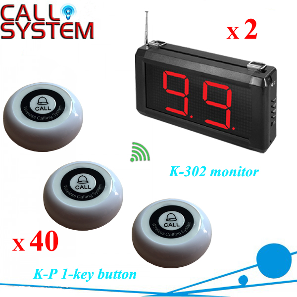 Restaurant hotel bar Wireless pager calling system 2 receiver 40 transmitters