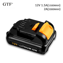 2000mah 12V Rechargeable Tool Battery for Dewalt Replacement Li-ion Battery for Dewalt 1.5A MAX Li-ion DCB120 DCB121 DCB123 7 4v 2000mah rechargeable li ion battery bl 2000a for hi target ihand18 handheld computer