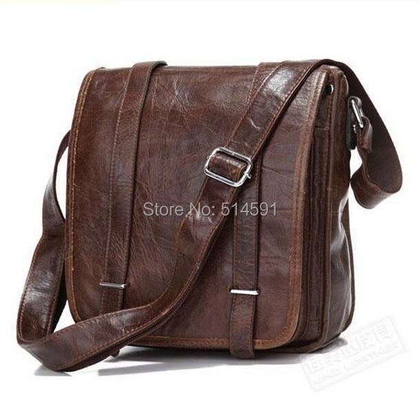 High Quality 2015 New Men Vintage Messenger Bags Genuine Leather Shoulder Bags For Men Wholesale Men Cowhide Casual Bags