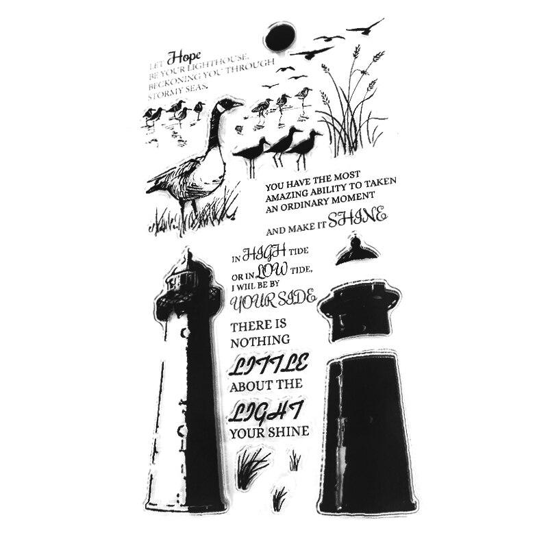 Hope Tower Duck Transparente Sellos Claros Sellos de silicona para - Artes, artesanía y costura